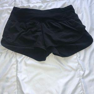 Lululemon Black Speed Up Shorts